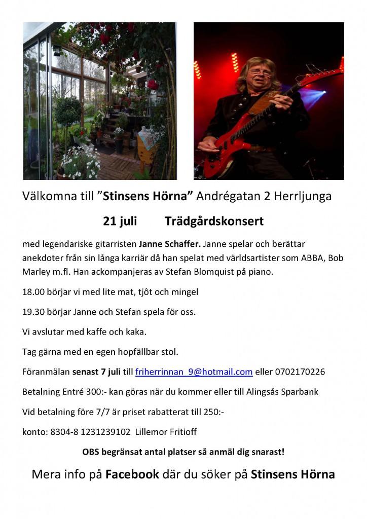 Affisch flygblad Janne